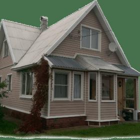 Загородный дом с окнами ПВХ